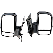 Driver and Passenger Side Heated Mirror - Power Glass, Manual Folding, In-housing Signal Light, Without memory, Textured Black
