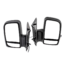 Driver and Passenger Side Non-Heated Mirror - Manual Glass, Manual Folding, In-housing Signal Light, Without memory, Textured Black