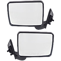 Manual Mirror, Driver and Passenger Side, Manual Folding, Non-Heated, Paintable
