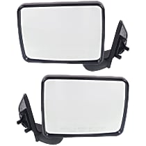 Kool Vue Manual Mirror, Driver and Passenger Side, Manual Folding, Non-Heated, Paintable