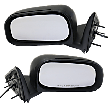 Mirror - Driver and Passenger Side (Pair), Power, Folding, Textured Black, For Models With 6 x 9 Inch Housing