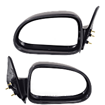 Manual Mirror, Driver and Passenger Side, Non-Folding, 5 x 7 in. Housing, Textured Black