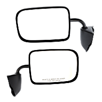 Mirror - Driver and Passenger Side (Pair), Folding, Paintable, 6 x 9 in. Housing
