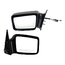 Mirror - Driver and Passenger Side (Pair), Manual Remote, Paintable, 5 x 7 in. Housing