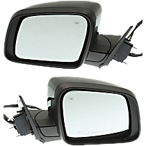 Mirror - Driver and Passenger Side (Pair), Power, Heated, Folding, Paintable, With Turn Signal and Memory