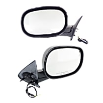 Power Mirror, Driver and Passenger Side, Manual Folding, Non-Heated, 6 x 9 in. Housing, Textured Black