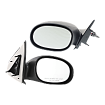 Manual Remote Mirror, Driver and Passenger Side, Non-Folding, Paintable