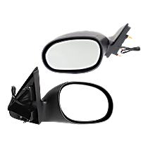 Power Mirror, Driver and Passenger Side, Non-Folding, Non-Heated, Textured Black