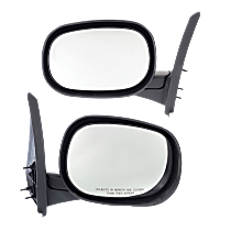 Mirror - Driver and Passenger Side (Pair), Folding, Textured Black