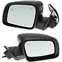 Mirror - Driver and Passenger Side (Pair), Power, Heated, Folding, Paintable, With Turn Signal, Memory and Blind Spot Function