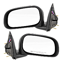Mirror - Driver and Passenger Side (Pair), Power, Heated, Folding, Textured Black, 6 x 9 in. Housing