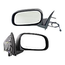 Power Mirror, Driver and Passenger Side, Manual Folding, Heated, w/o Memory, Textured Black