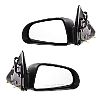 Mirror - Driver and Passenger Side (Pair), Power, Textured Black, 5 x 7 in. Housing