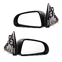Kool Vue Power Mirror, Driver and Passenger Side, Non-Folding, Non-Heated, 5 x 7 in. Housing, Textured Black