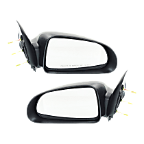 Mirror - Driver and Passenger Side (Pair), Textured Black, 5 x 7 in. Housing