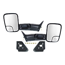 Mirror - Driver and Passenger Side (Pair), Towing, Textured Black, Old Body Style