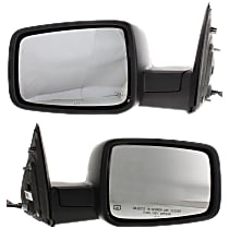 Kool Vue Power Mirror, Driver and Passenger Side, Manual Folding, Heated, w/ Memory, Signal & Puddle Light, w/o Auto Dim, Chrome