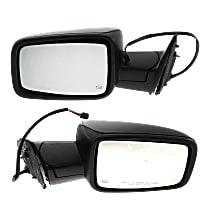 Kool Vue Power Mirror, Driver and Passenger Side, Manual Folding, Heated, w/o Memory, Signal & Puddle Light, w/o Auto Dim, Textured Black