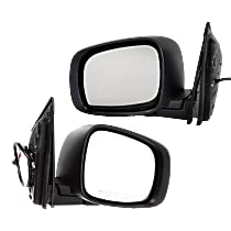 Kool Vue Power Mirror, Driver and Passenger Side, Manual Folding, Heated, w/o Memory and Signal, Textured Black