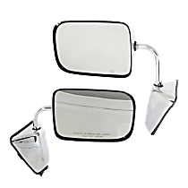 Mirror - Driver and Passenger Side (Pair), Chrome, 6 x 9 in. Housing