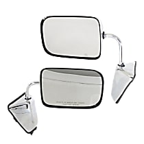 Kool Vue Manual Mirror, Driver and Passenger Side, Manual Folding, 6 x 9 in. Housing, Chrome