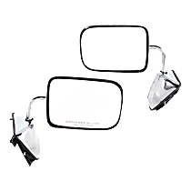 Mirror - Driver and Passenger Side (Pair), Power, Chrome, 6 x 9 in. Housing