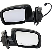 Driver and Passenger Side Heated Mirror - Power Glass, Manual Folding, Without Signal Light, Without memory, Textured Black