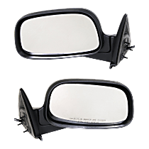 Mirror - Driver and Passenger Side (Pair), Power, Folding, Textured Black, 6 x 9 in. Housing