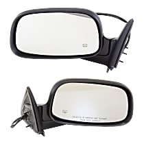 Power Mirror, Driver and Passenger Side, Manual Folding, Heated, 6 x 9 in. Housing, Textured Black