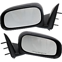 Mirror - Driver and Passenger Side (Pair), Folding, Textured Black, 6 x 9 in. Housing