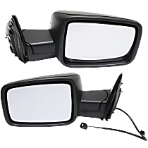 Manual Mirror, Driver and Passenger Side, Manual Folding, Non-Towing, Textured Black