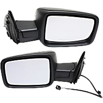 Kool Vue Manual Mirror, Driver and Passenger Side, Manual Folding, Non-Towing, Textured Black