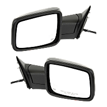 Power Mirror, Driver and Passenger Side, Manual Folding, Non-Towing, Heated, w/o Memory, w/ Signal and Puddle Light, Textured Black