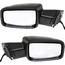 Power Mirror, Driver and Passenger Side, Power Folding, Non-Towing, Heated, w/o Memory, w/ Signal and Puddle Light, Paintable