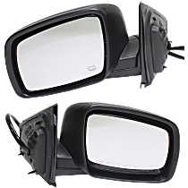 Mirror - Driver and Passenger Side (Pair), Power, Heated, Folding, Paintable, Models Without One Touch