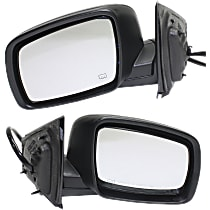 Kool Vue Power Mirror, Driver and Passenger Side, SXT / R/T Models, Manual Folding, Heated, w/o Memory, Paintable