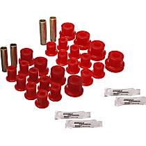 SET-E1222102R-C Leaf Spring Bushing - Red, Polyurethane, Direct Fit, Set of 2