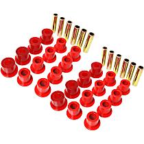SET-E1222107R-C Leaf Spring Bushing - Red, Polyurethane, Direct Fit, Set of 2