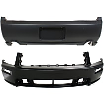 Front and Rear Bumper Cover, Primed - GT Model, (w/o California Package 07-09), CAPA CERTIFIED