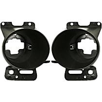 Fog Light Bracket - Driver and Passenger Side (Set of 2), Plastic, Direct Fit