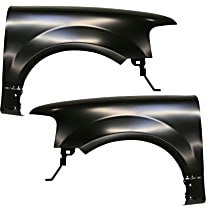 Fender - Front, Driver and Passenger Side, without Wheel Opening Molding Holes, CAPA CERTIFIED