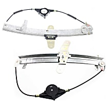 Front and Rear, Passenger Side Power Window Regulator, Without Motor
