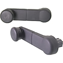 Window Crank - Front, Driver and Passenger Side, Textured Black, Direct Fit, Set of 2