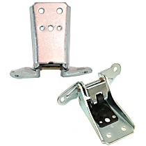 Door Hinge - Chrome, Direct Fit, Set of 2