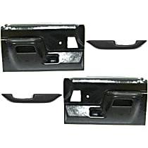 Accu Form SET-F465503 Arm Rest - Black, ABS Plastic, Direct Fit, Set of 2