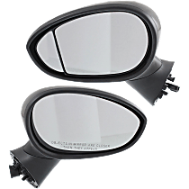 Power Mirror, Driver and Passenger Side, Hatchback, Manual Folding, Heated, Paintable