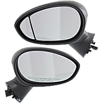 Kool Vue Power Mirror, Driver and Passenger Side, Hatchback, Manual Folding, Heated, Paintable