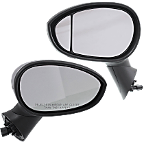Power Mirror, Driver and Passenger Side, Hatchback, Manual Folding, Heated, Chrome