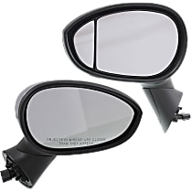 Kool Vue Power Mirror, Driver and Passenger Side, Hatchback, Manual Folding, Heated, Chrome