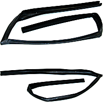 SET-FAIG1010-F Weatherstrip Seal - Front, Driver and Passenger Side, Glass Weatherstripping, Direct Fit, Set of 2